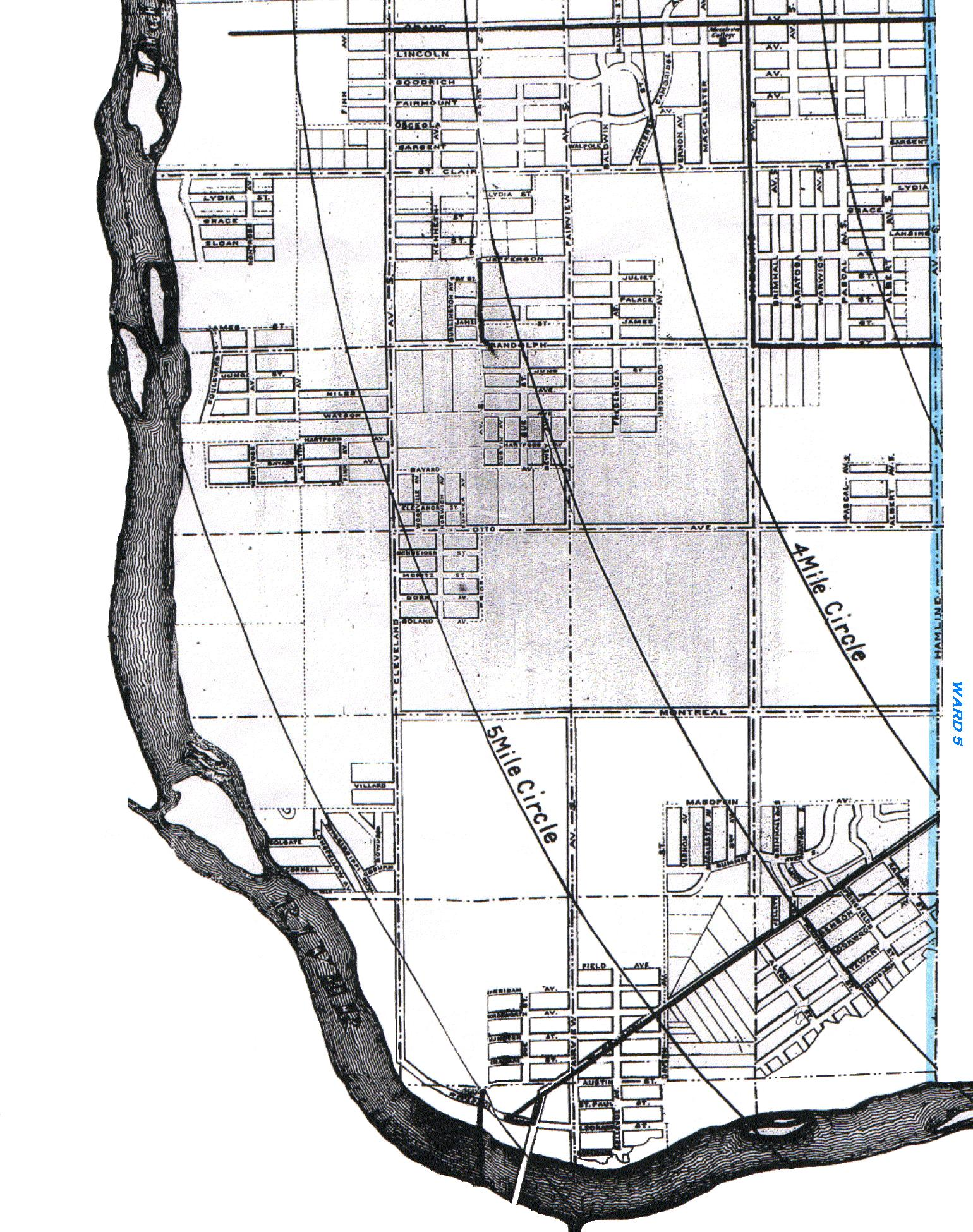 KinSource 1909 Map Of St Paul  Ward 11