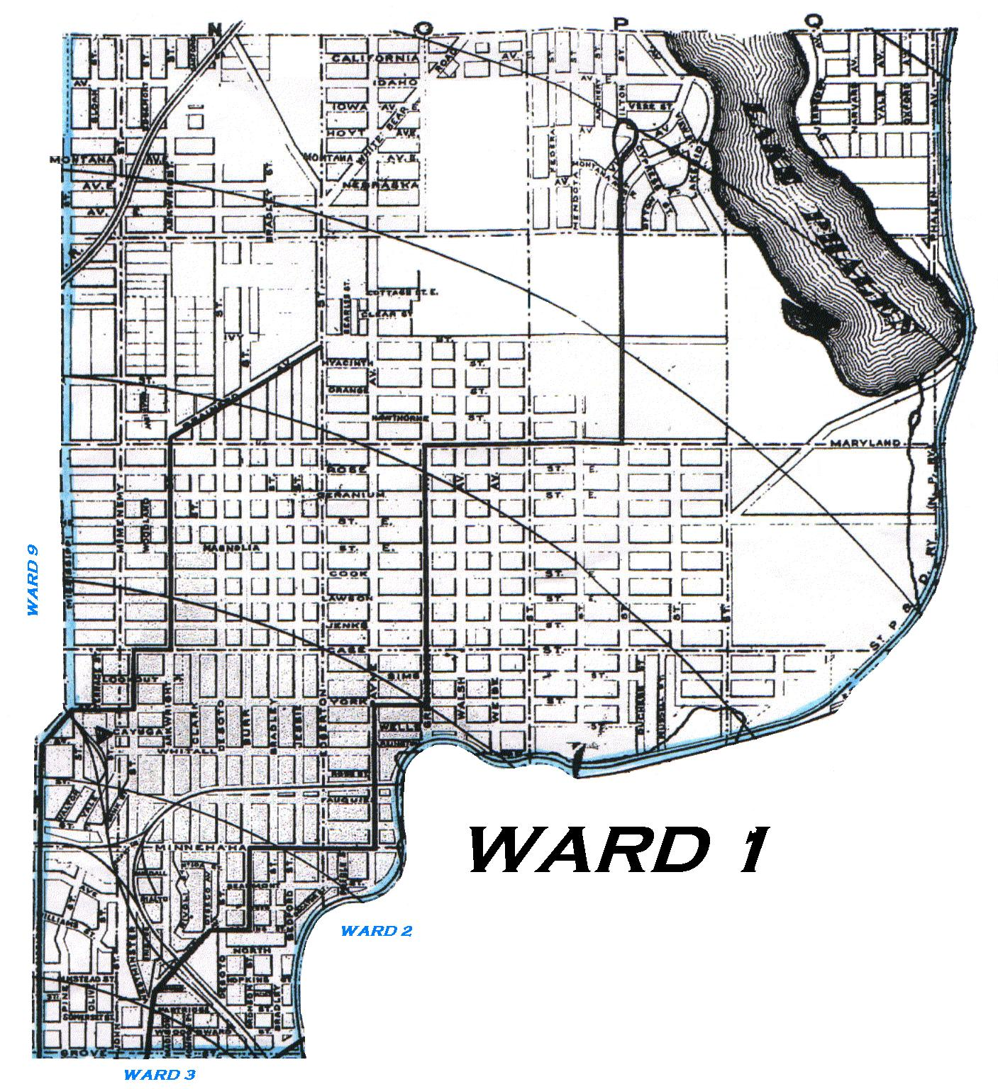 KinSource 1909 Map Of St Paul  Ward 1