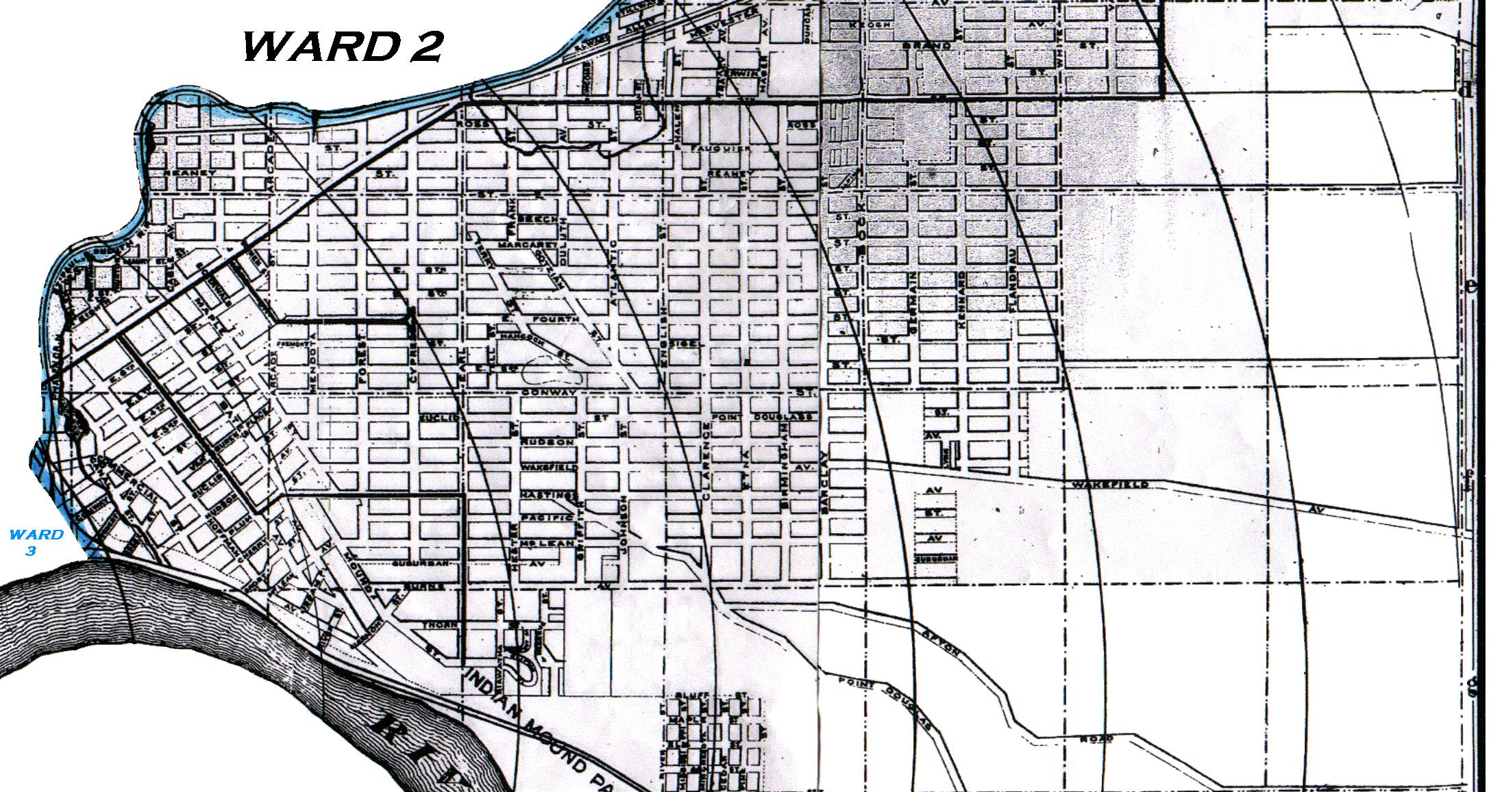 KinSource 1909 Map Of St Paul  Ward 2